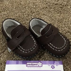 Pediped boys brown leather shoes (lotA)